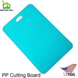 Plastic board cutting flexible pp chopping board