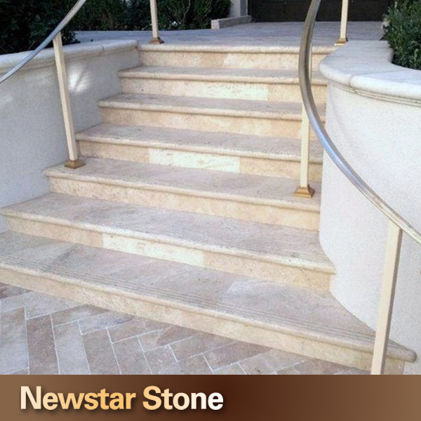 Exceptional China High Quality Marble Travertine Stair Treads