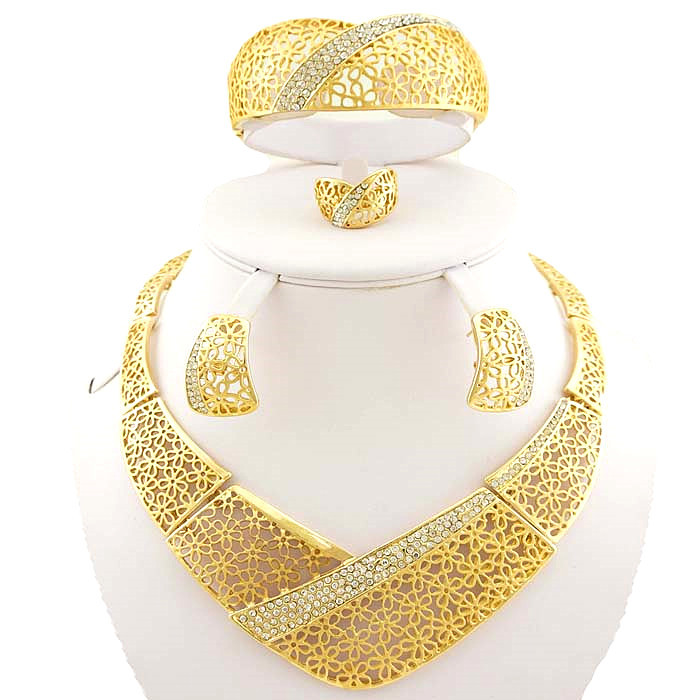 jewellery necklace jewelry gold wedding shopping african top free beads shipping plated sets