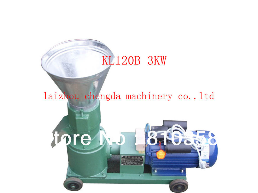 Kl120b 220v Single Phase 50hz Wood Pellet Mill And Feed