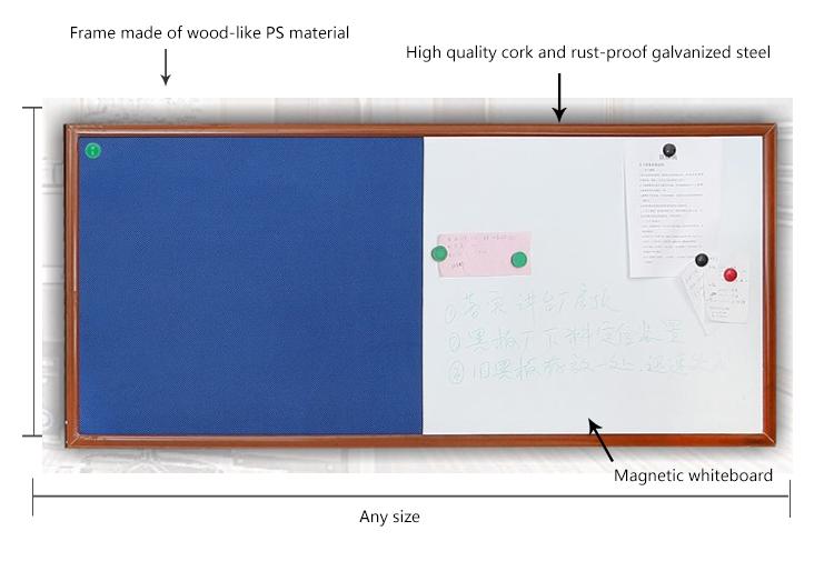 2019 Amazon ขายร้อนนักเรียนใช้อเนกประสงค์ cork board ไม้กรอบ