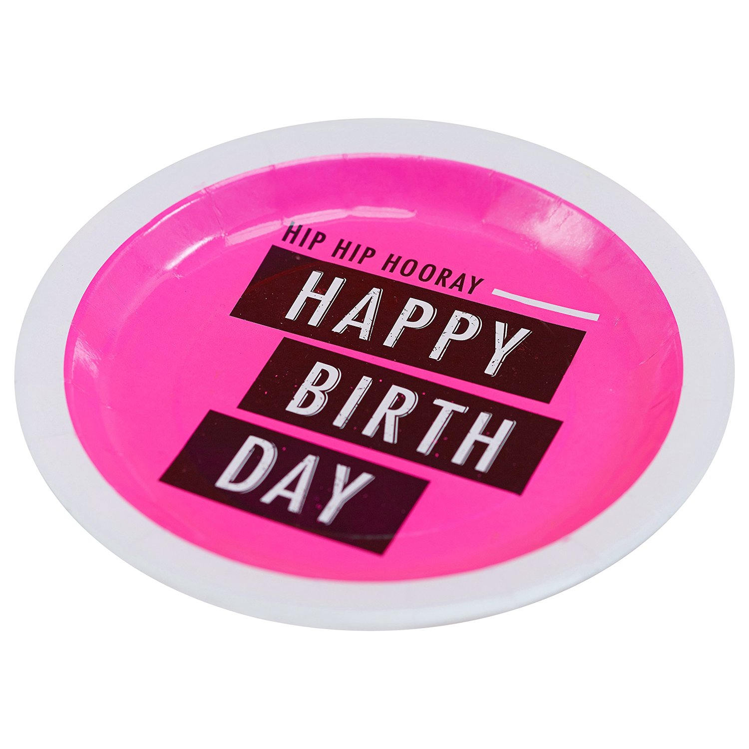Get Quotations · Ginger Ray Neon Fluorescent Happy Birthday Paper Party Plates Pink  sc 1 st  Alibaba & Cheap Neon Paper Plates find Neon Paper Plates deals on line at ...