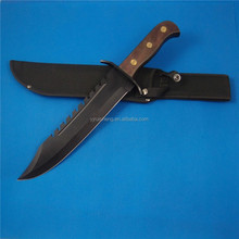 Most popular best selling black wood handle rambo knife