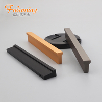 Golden aluminum alloy handle for cabinet closet and drawers 1200 mm long handle and black door handle