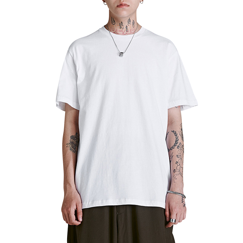 summer men casual T Shirt streetwear black and white brand clothing man's loose T-Shirts women tops play tees take a walk