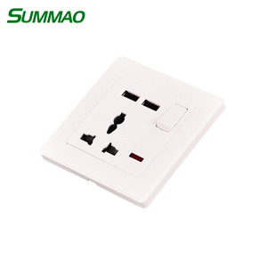 PC Charger Power Electric 16A Plug To 13A Switch Socket With USB
