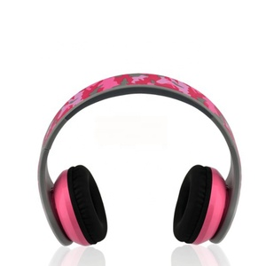 Camouflage color headset wearing a wireless Blue tooth earphone stereo headphones with card function and FM radio