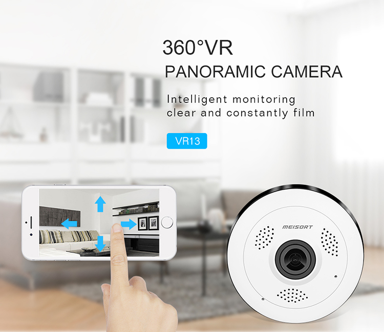 2018 Meisort 960p high quality ceiling hidden camera for home security indoor intelligent alarm wireless ip camera VR13