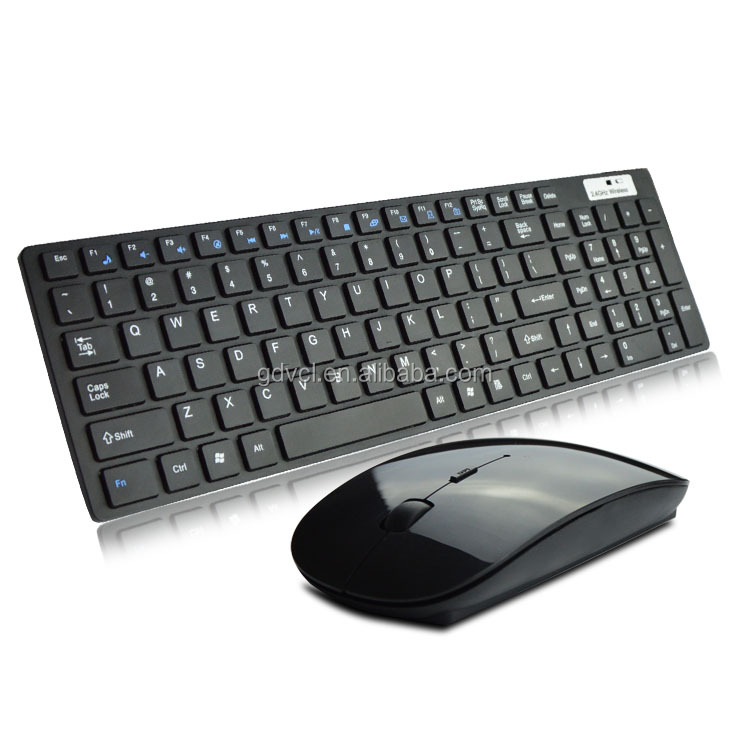 Hot Sales USB dustproof stand Wireless optical 2.4G Keyboard and Mouse Combo from factory