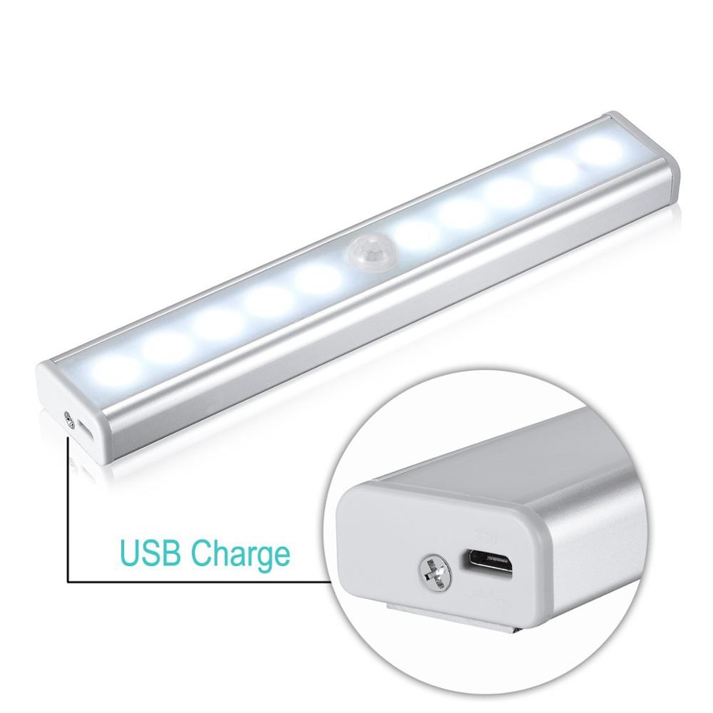 China Manufacturer Usb Rechargeable Wireless 10led
