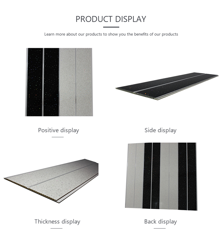 Decorative waterproof PVC panels ceiling design 3.4kg/m2 weight panel