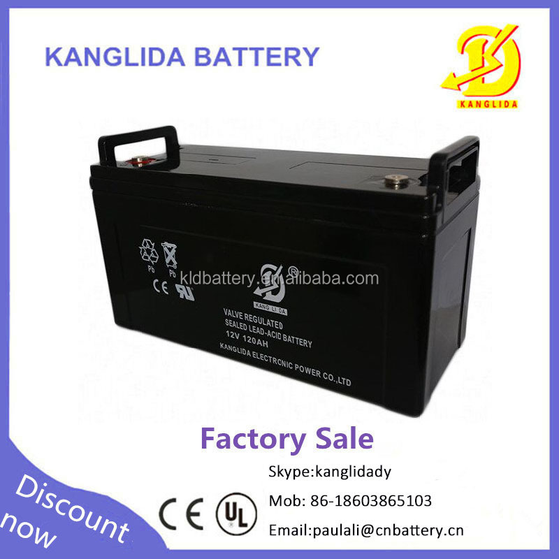 Deep cycle storage battery 12v120ah for sightseeing bus