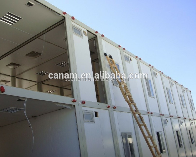 CANAM-steel structure anti-storm wood house indonesia