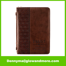 Brown Bible Book Cover Custom Leather Bible Cover