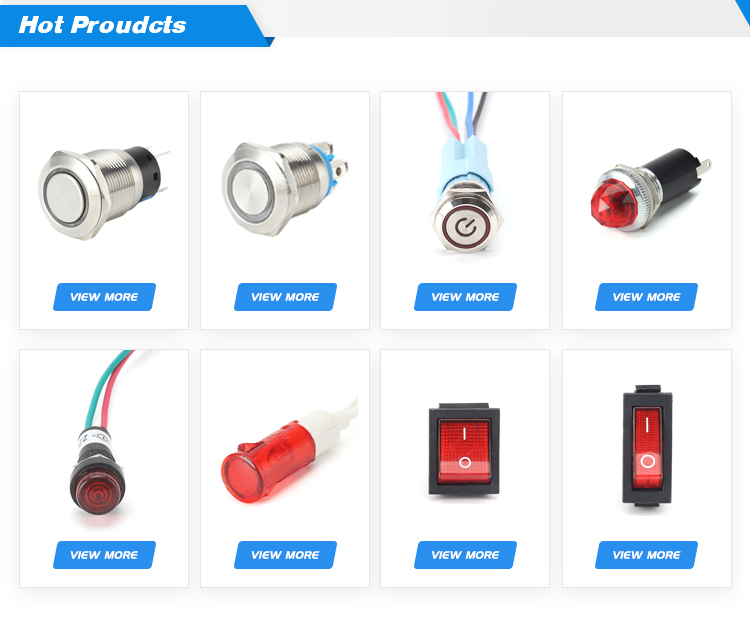 CE certificate 25mm IP67 diameter metal ring led 12v 24v 220v stainless steel momentary push button switch with screw pins