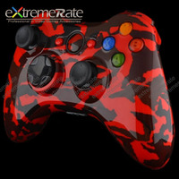 Customized Red Camouflage Shell For Xbox 360 Controller Case ...