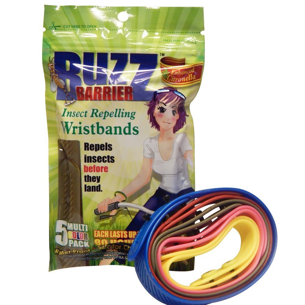BuzzBarrier Mosquito & Insect Repellant Wristbands - Great for Kids and Pets! Multi- Pack - Patented Swiss Technology, University Tested - Water-Proof, Non-Toxic and DEET Free (40)