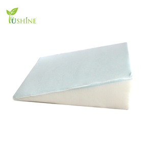 Post Surgery Elevating Leg Rest Wedge Pillow with 1.5 inches Memory Foam Top