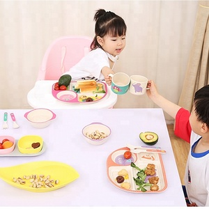creative bio bamboo fiber kids tableware for children high quality children dinnerware