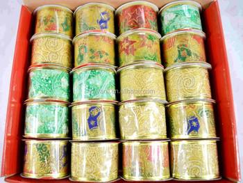 christmas ribbon wholesale joblot bow clearance organza wired ribbon sale - Christmas Ribbon Wholesale