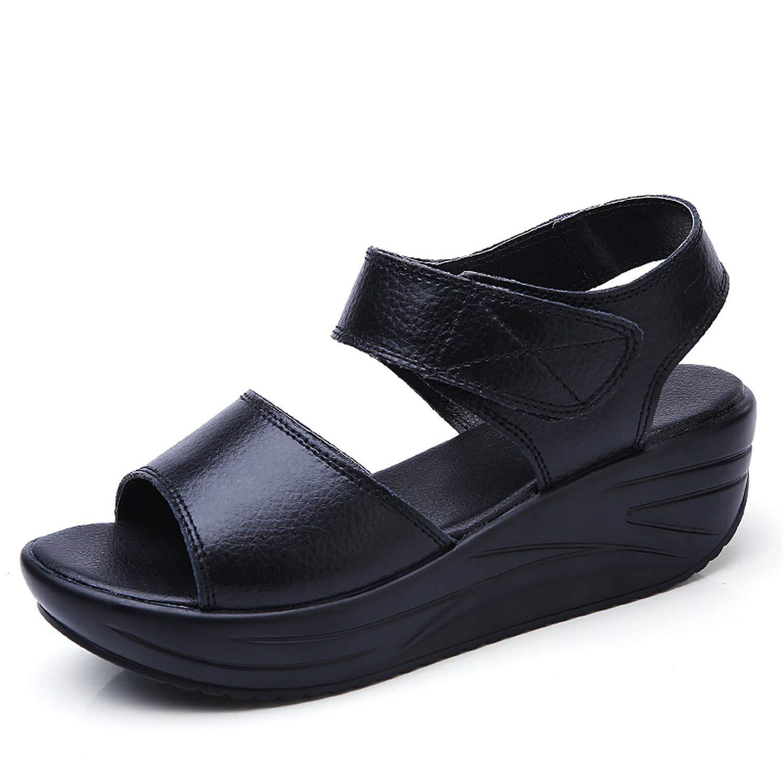 1b3b59f17940b Get Quotations · Perfect-Sense-Show 2018 Women Sandals Summer White Wedge  Sandals Open Toe Platform Sandalias