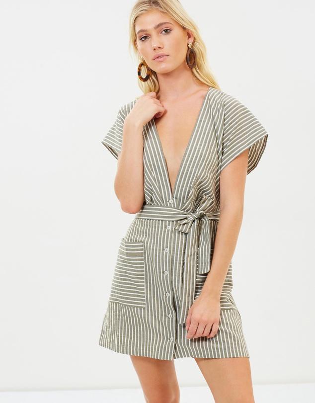 2351c424ab Women Summer Sexy Deep V Neck Cap Sleeve Boho Dress Linen - Buy ...