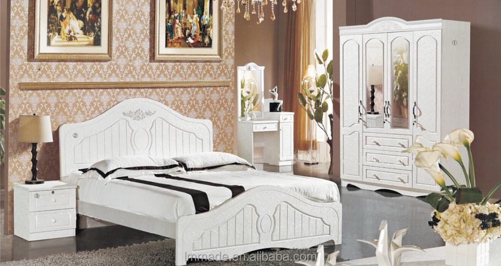 White Glossy Bedroom Bedroom Set Guangzhou Good Quality Bedroom