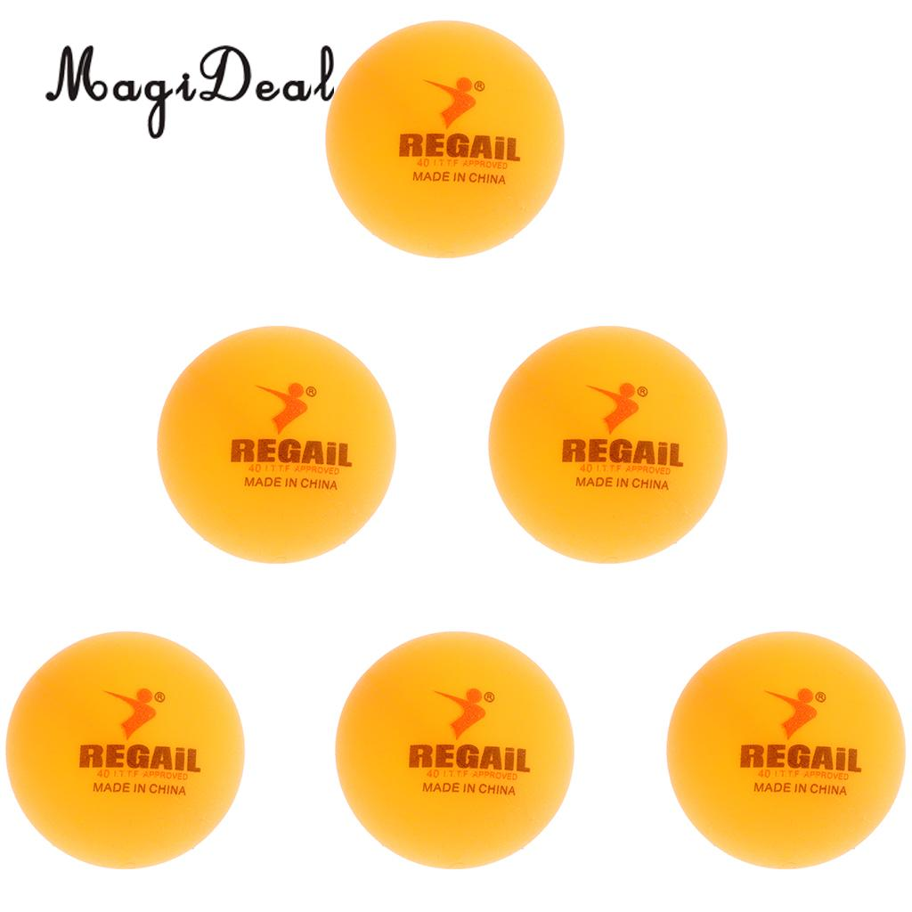24a3f5406d MagiDeal Set of 6 Plastic Table Tennis Practice Ball Beer Pong Balls for table  tennis practice