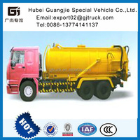Good Condition 290hp HOWO 6*4 Vacuum Sewage Suction Truck / sewer clean truck