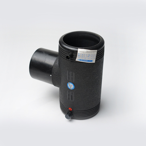 China Manufacture Black HDPE Pipe Fitting Hot-Melt Reducing Tee For Water Supply