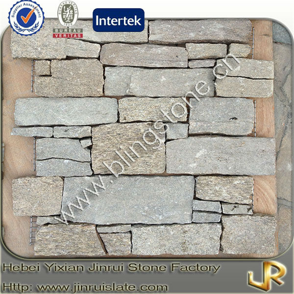 Stacked yellow granite decorative outdoor stone wall tiles