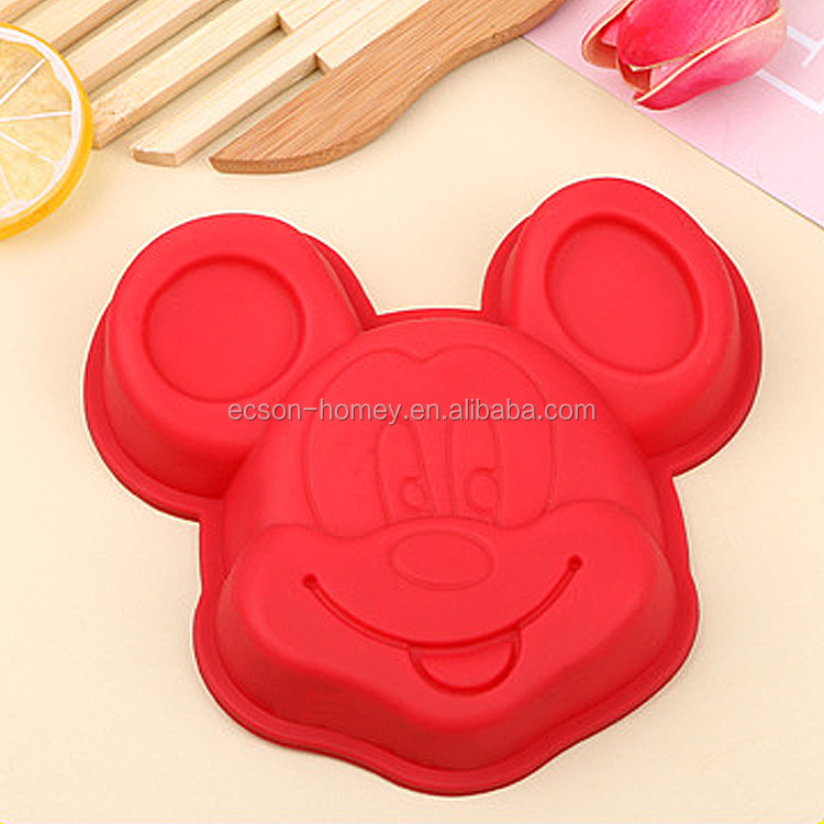 Mickey Mouse Head Shape Desserts Baking Tool Silicone Birthday Cake Baking Pans