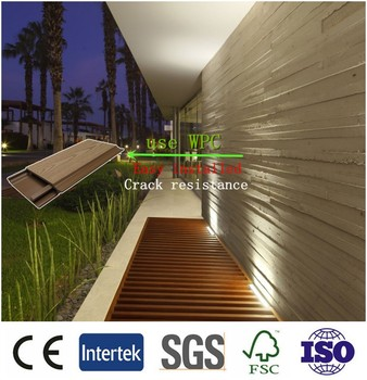Eco Friendly Wpc Wall Panel, Decorative Outdoor Wall Board Like Wood Panels,  Wall