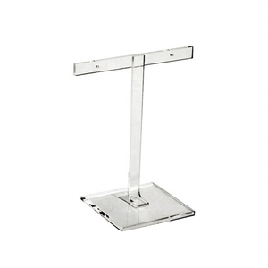 Acrylic T-Bar Stand/Persepx Jewelry Display Holder from supplier
