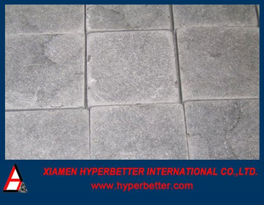 Antique blue limestone paving stone by handmade