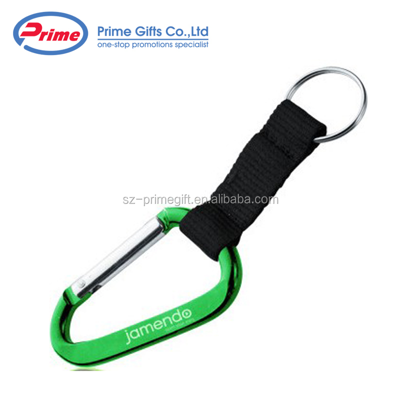 Custom Logo Carabiner Key Ring/Keychain for Sale