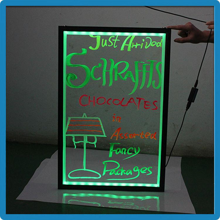 2015 hot selling zd led writing board double side rewritable k4 transparent panel magic writing slate - Slate Restaurant 2015
