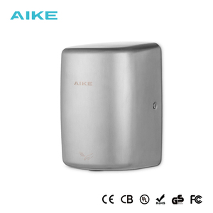 GS CE UL Aike New Sanitary Ware Commercial Wall Mounted Sensor High Speed Fast Air Small Body Automatic Hand Dryer Design China