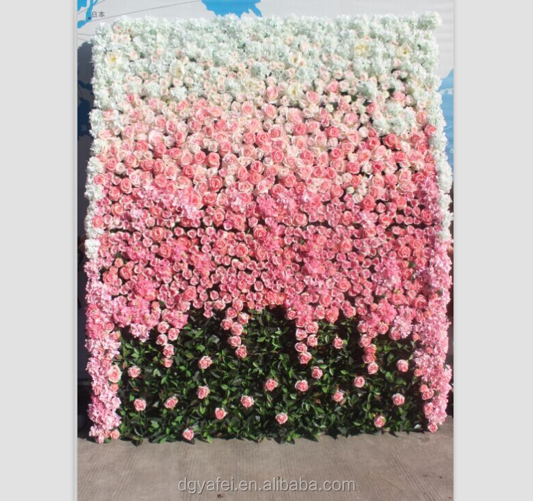 decorative wedding party events fabric rose flower wall