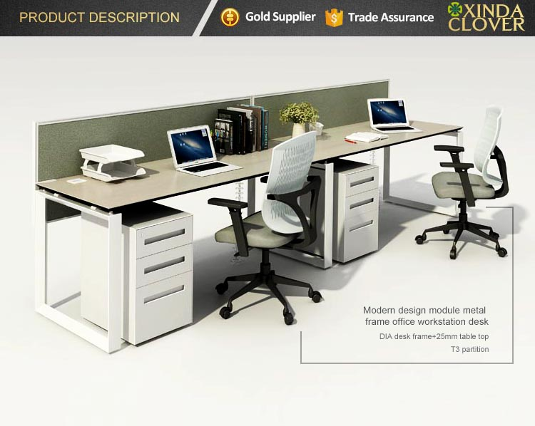 Made in foshan office open space melamine office desk person