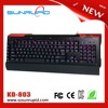 Macro metal plate led backlit usb gaming keyboard with 5 programmable keys