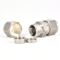 Swagelok Customized Stainless Steel Double Ferrules Tube Fitting For Steel Pipe Connection
