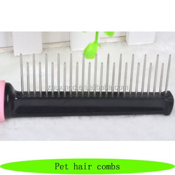 Stainless steel dog grooming tools, wholesale pet hair combs, pet groom