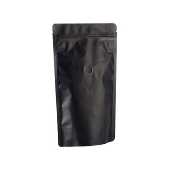 Matte Black Pouches Stand Up Pouch 2 Oz Coffee Bag