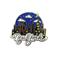 New York city topi souvenir Kustom emas <span class=keywords><strong>enamel</strong></span> pin murah grosir