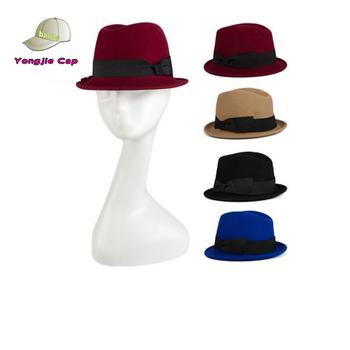 e1a71f7385d14 Muti-colors Stacy Adams Men Women Winter Crushable Wool Felt Snap Brim  Fedora Hat