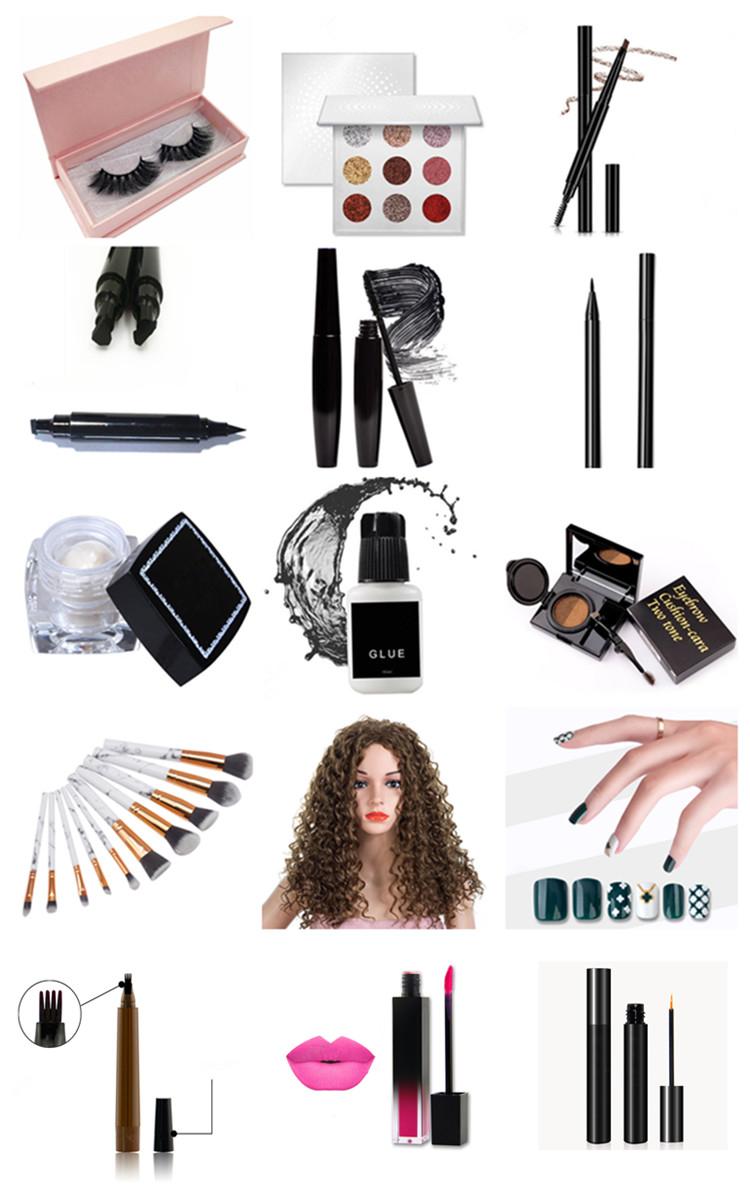 Nach make-up pigmentierte glitter lidschatten mit angepasst karton lidschatten palette verpackung