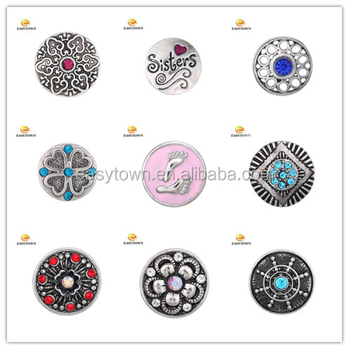 Snap Interchangeable Metal Jewelry Button Charm Snaps Ginger 18mm
