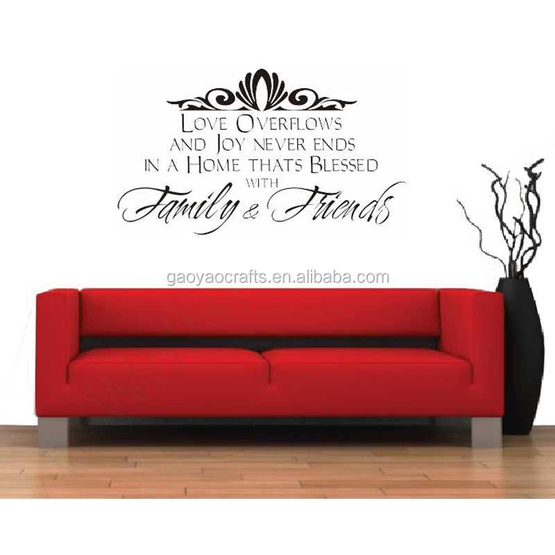 Wall Decals Family And Friend Carved Wall Stickers In English Foreign <strong>Trade</strong> In Europe And Custom High Quality