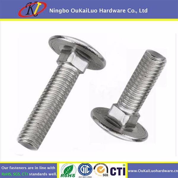 M6 Metric A2 Stainless Steel Cup Square Carriage Coach Bolts